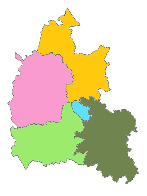 Oxfordshire Districts map