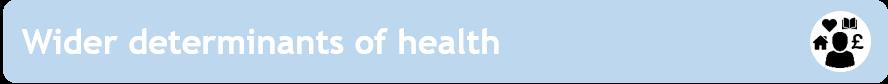 Wider Determinants of Health
